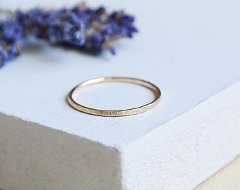 Gold Stack Ring, Gold Ring, Solid Gold Ring, Dainty Ring, Gold Stacking Ring, Tree Bark Ring, Simple Gold Ring, 9ct Gold Ring, 9ct Gold Band