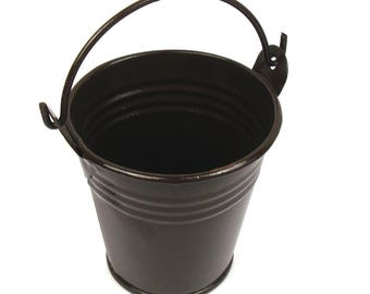 Mini Brown lacquered zinc bucket