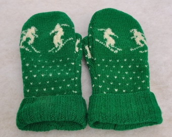 Recycled Wool Mittens, Upcycled Wool Mittens, Felted Wool Mittens, Sweater Mittens, Wisconsin Made