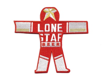 Lone Star Beer Can Man True Detective Carcosa Patch