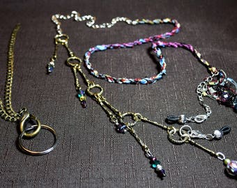 Office Lanyard, Glasses Holder, Beaded Lanyard, Funky Lanyard, Gift for Her, Office Accessories,Lanyard,Eyeglasses Accessories,Glasses Chain