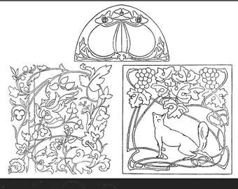 74 Art Nouveau Needlework Patterns Artistic and Practical Embroidery Designs By Liberty Illustrated 36 Pages Printable Instant Download