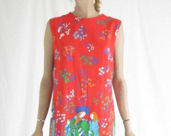 Vintage 60's Mod Sheath Dress