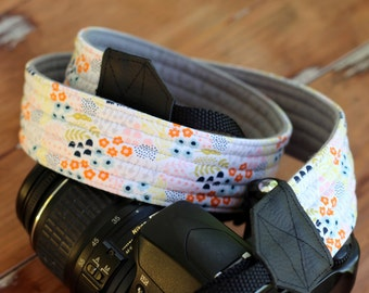 Custom Camera Strap, floral camera strap,  womans camera strap, dslr camera strap, nikon canon slr, photographer gift, camera neck strap