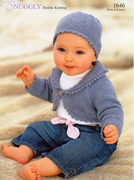 baby childs childrens bolero knitting pattern PDF girls bolero with ...
