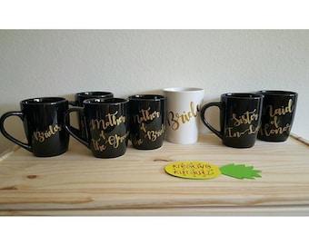 Bridal party mugs
