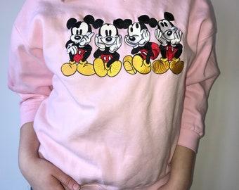 Adorable Pink Mickey Crewneck