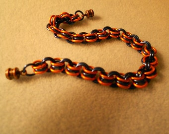 Colored chain maille bracelet