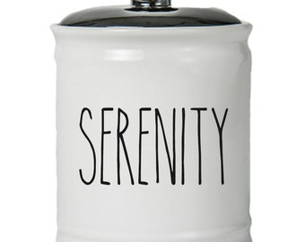 Serenity Word Jar With Lid - Money Coin Jar - Money Bank - Money Jar - Money Jar With Lid