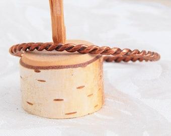 Twisted Copper Wire Cuff