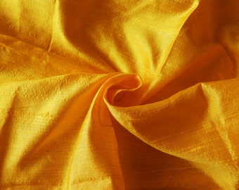 Pure Silk Fabric, Pure Dupioni Silk Fabric, Silk Fabric, Indian Silk Fabric, Yellow Silk Fabric
