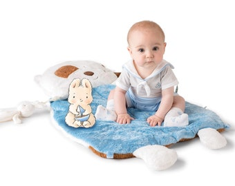 Personalized Baby Gift   Play Mat   Tummy Time   Puppy Pillow   Baby shower gift      Bunnies By The Bay   Skipit Puppy   Baby Mat  