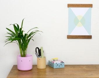 "FRAME POSTER HANGER A4 Ovangkol / Wooden Poster Frame 23 cm (9"") A4 Print / Picture Wall hanging / Wall decor / Handmade housewarming gift"