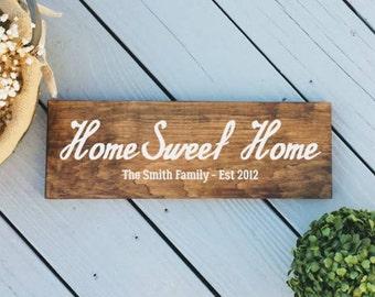 7x23 Home Sweet Home Sign - Custom Home sweet Home Sign - Personalized Home Sweet Home Sign - Last Name Sign -Last Name Home Sweet Home Sign