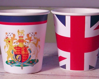 British Paper Party Cups - Set of 12