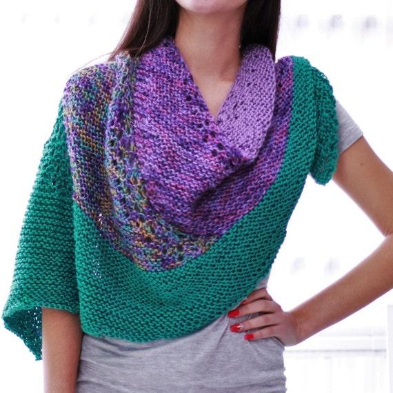 Knitting pattern, Patron tricot PDF – Chloe Shawl, hand knitted ...
