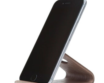 iPhone Holder | iPhone Stand | Table iPhone Stand | Wooden Phone Stand | Black Walnut Stand | Desktop Collection | Gift For Men - Women