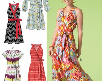 Sewing Pattern Wrap Dress Pattern, Wrap Sundress Pattern, Long Wrap Dress Pattern, McCall's Sewing Pattern 7119