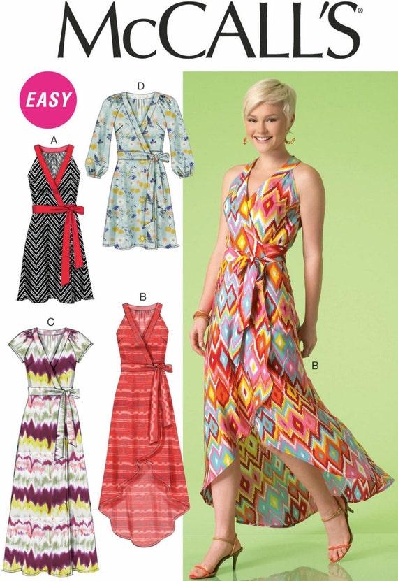 Sewing Pattern Women\'s Wrap Dress Pattern, Wrap Sundress Pattern ...