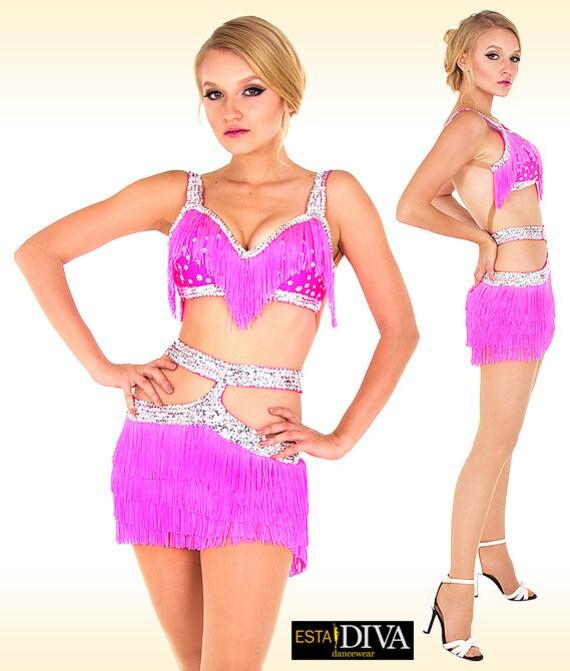 Vestido de baile de salsa Fiera vestido latino Vestido de