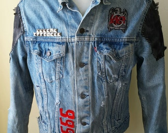 Slayer Denim and Leather Jacket