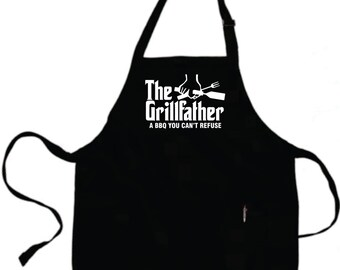Fathers Day Grilling Gifts For Dad Father Gift Boyfriend Gift Husband Mens Gift Personalized Mens THE GRILLFATHER Grilling Grill Aprons