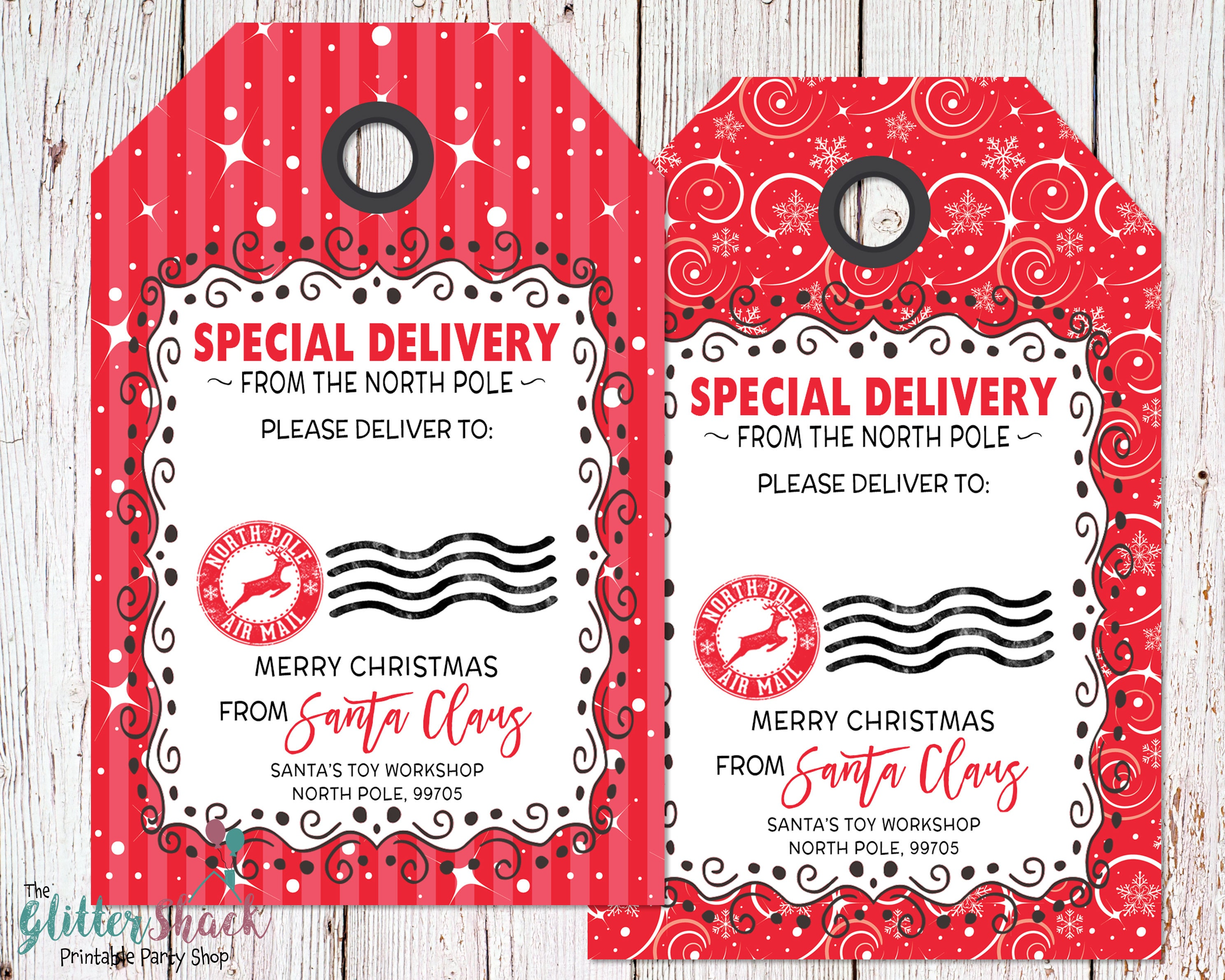 Christmas gift tags blank from santa gift tag special zoom negle Choice Image