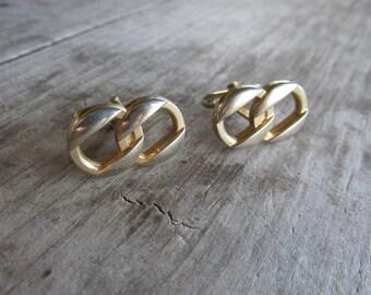 Swank Gold Tone Chain Link Eternity Cuff Links