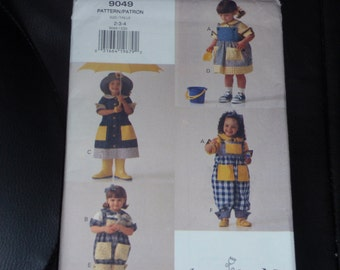 Vogue 8922 for Me Pattern Toddler Girl Coat, Dress, Top, Skirt and Pants Size 2-4 Uncut New