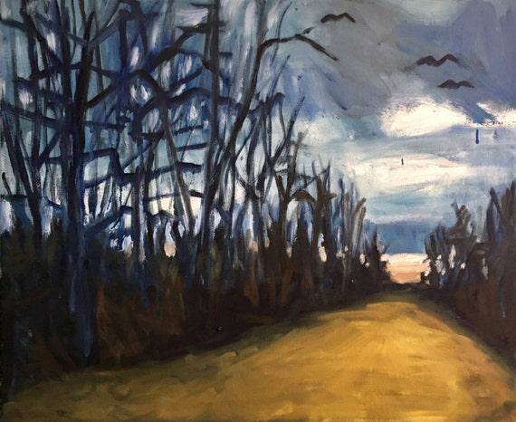 "Original Oil Painting: Southward Bound, 24""x20"""