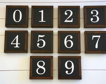 "number (7""x7"") | handmade wood sign"