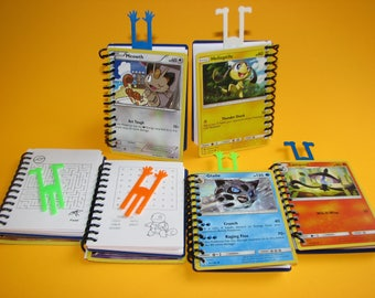 25,30,35 Pokemon Notebooks with 3D Printed Funny Bookmarks - Pokemon Party Favors - Pokemon Favors - Pokemon Party Giveaways - Pokemon TCG