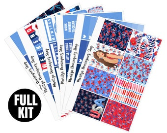 America Full Weekly Kit | 153+ Planner Stickers