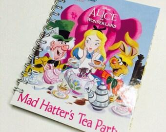 Disney Alice in Wonderland Mad Hatters Tea Party Repurposed Little Golden Book Planner/Sketchbook/Journal/Autograph book/Notebook/Recipes