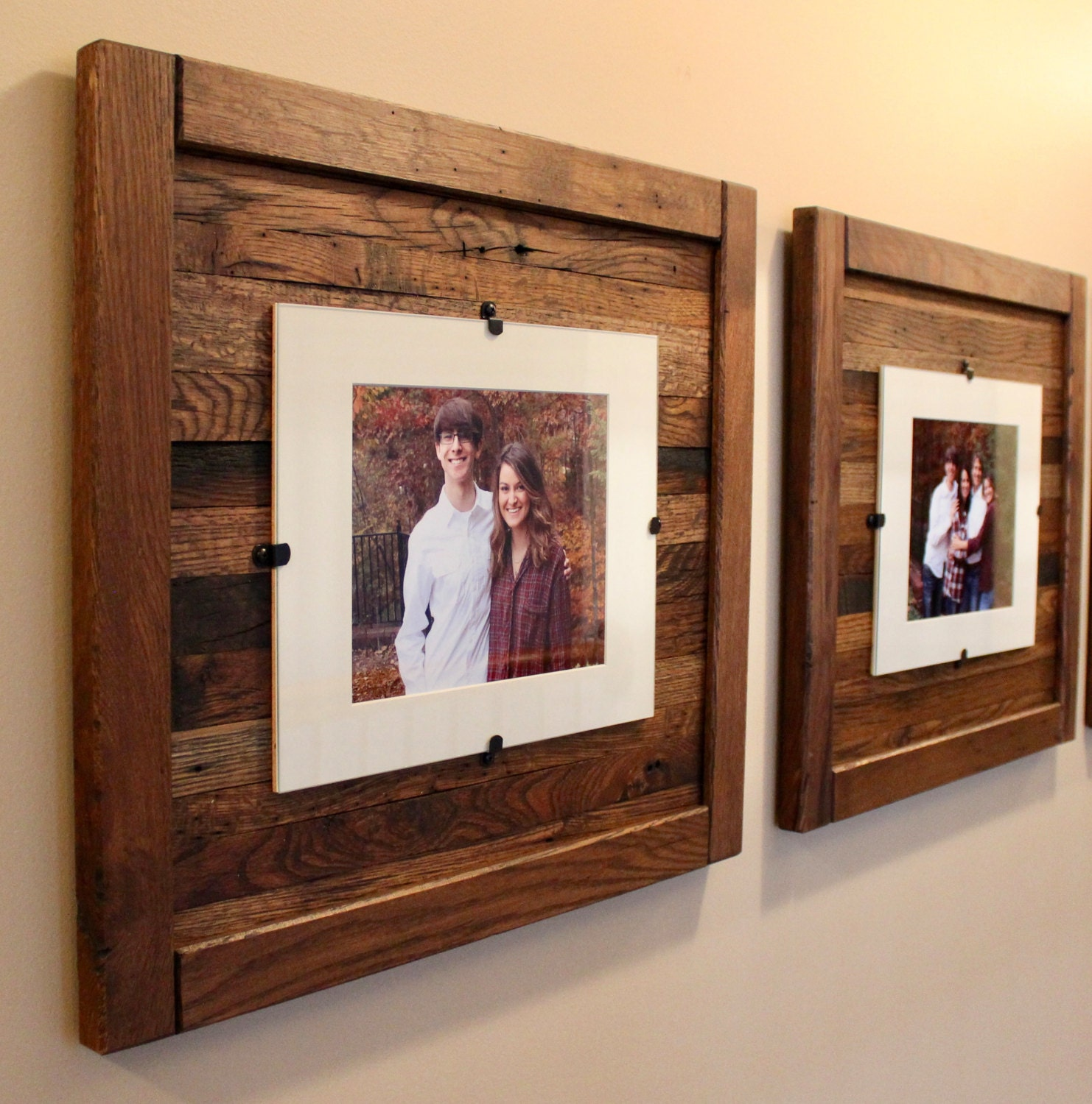 Picture Frames, Reclaimed Wood, Wedding Pictures,Set of 2, 8x10 ...