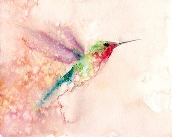 Hummingbird - Archival Print from 10x8 inch