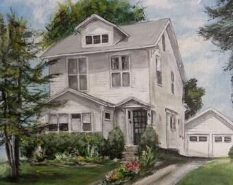 11 x 14 or 12 x 16 custom house portrait