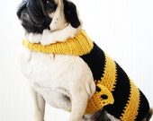 Bumble Bee Dog Sweater - Bumble Bee Costume - Pug Sweater - Pug Jacket - Dog Clothing - All You Need is Pug®