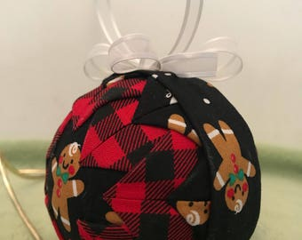 """3"""" hand made Quilted Gingerbread  Ornament"""