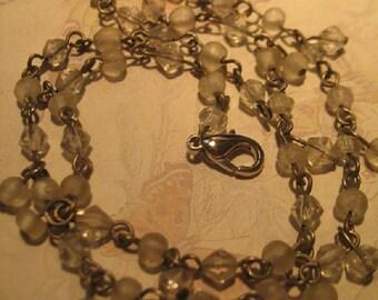 Vintage Delicate Crystal Necklace Bracelet
