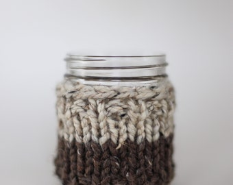 Tea/Coffee Mug Cozy - Knit two toned