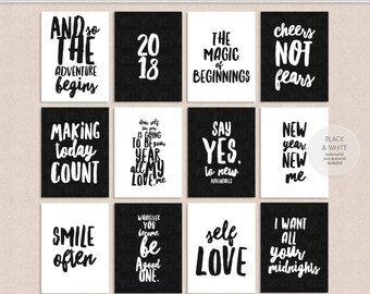 Quotes No. 1 3x4 Journal Cards - New Years