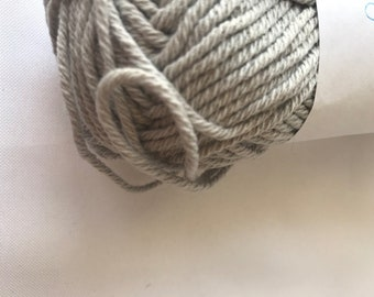 Cotton Yarn -- Cotton Ease by Lion Brand Yarns -- Light gray