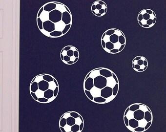 Soccer Ball decals, vinyl wall art decals sport stickers decal set