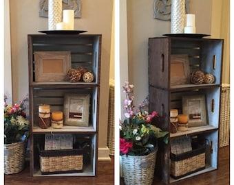 Rustic Chic Wine Crate Shelf