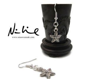 NEW Silver Plated Brass Starfish Earrings (ERSS214)