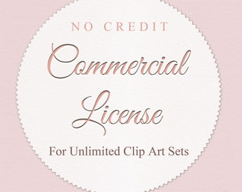 No Credit. Commercial license for Unilimited Clip Art Sets.