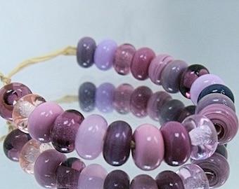 Lady Mix, Lampwork Spacer Beads, SRA, UK