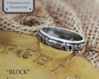Custom Ring Engraving, Personalized Engraving, Inside Ring Engraving, The Perfect Touch For The Perfect Gift, Wedding Band Engraving