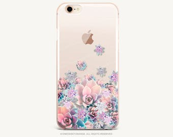 iPhone 8 Case iPhone X Case iPhone 7 Case Succulents Clear GRIP Rubber Case iPhone 7 Plus Clear Case iPhone SE Case Samsung S8 Plus Case U81